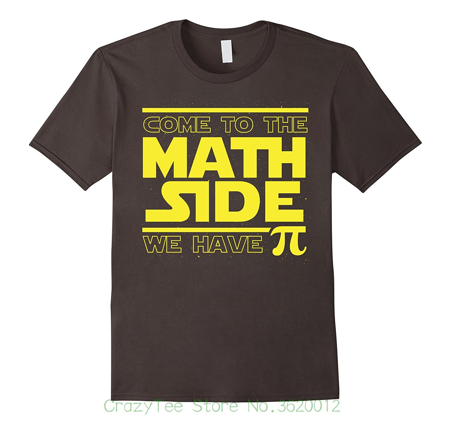 Printed T Shirts Short Sleeve Hipster Tee Come To The Math Side We Have Pi Funny Pi Day T-shirt