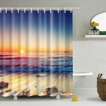 Digital Printing Bathroom Shower Curtain Waterproof Decor Shocking Landscape Curtains 180180