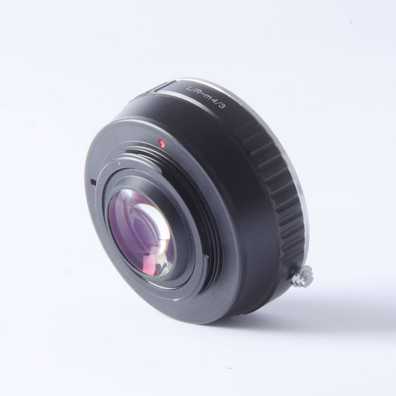 Adaptateur Turbo réducteur de vitesse pour objectif Leica R LR vers caméra M4/3 mft GH4 GF6 GX1 GX7 EM5 EM1 E-PL5 BMPCC