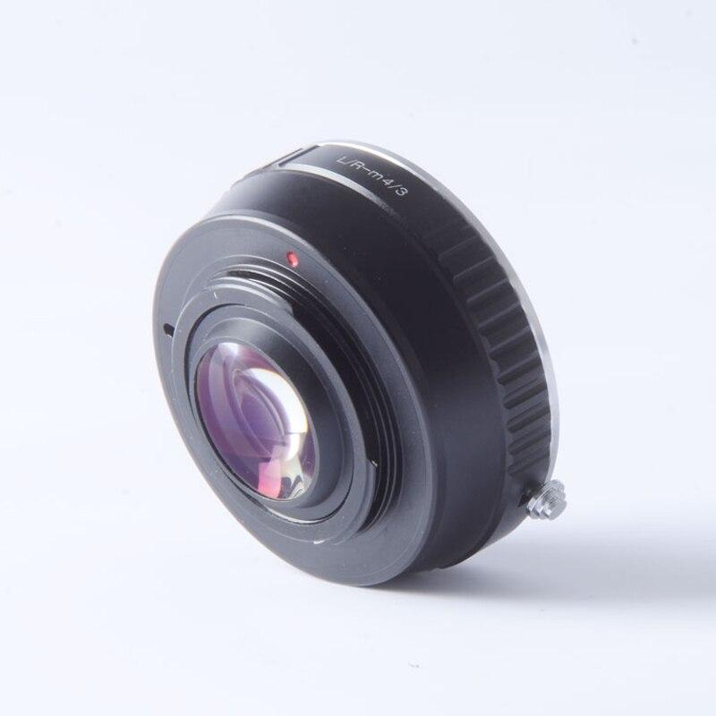 Adaptateur Turbo réducteur de vitesse pour objectif Leica R LR vers caméra M4/3 mft GH4 GF6 GX1 GX7 EM5 EM1 E PL5 BMPCC-in Objectif Adaptateur from Electronique    1
