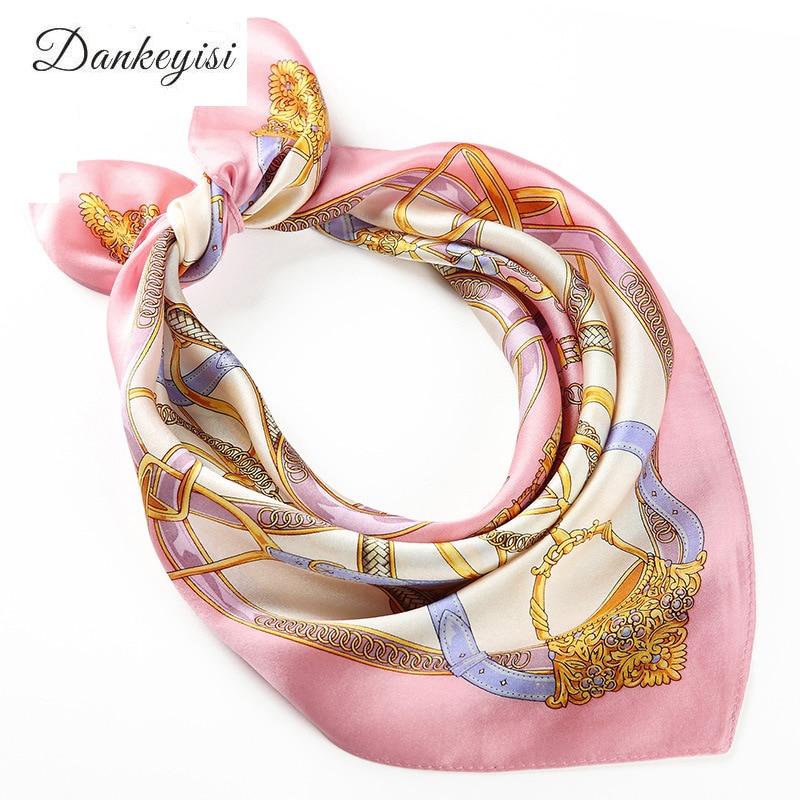 DANKEYISI 100% hedvábný šátek ženský šátek jarní podzimní hedvábný šátek čtverhranný šátek šátek malý kapesník šátek 2017