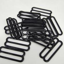 Bra adjustable buckles 30mm black 8 underwear Metal&plastic buckle Brassiere clasp nylon coated metal 30 pcs/lot