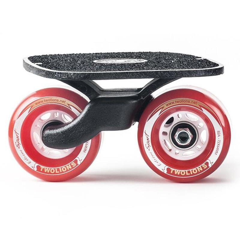Twolions planche de dérive classique en aluminium pour Freeline Roller RoadDrift patins antidérapant planche à roulettes planche à roulettes Freeline patins Wakeboard