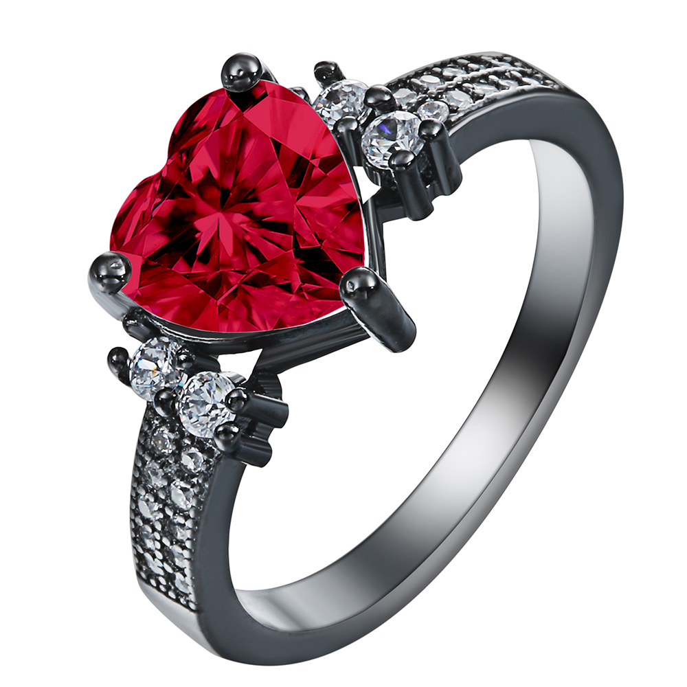 products rings couple proposal blue silver red stainless steel are promise roses