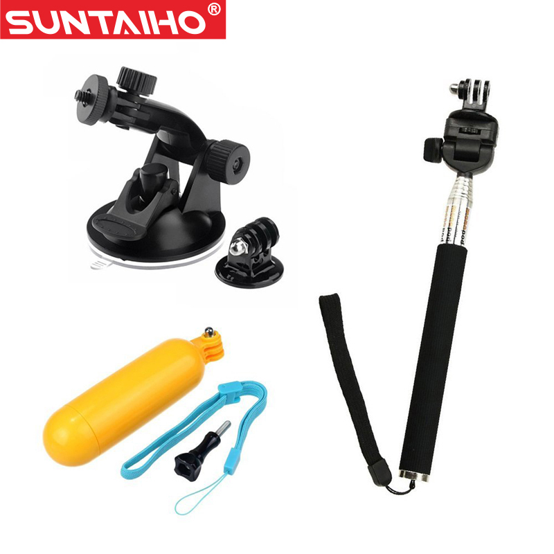 Suntaiho for GoPro accessories 3 in <font><b>1</b></font> Set Floating Grip + Monopod +<font><b>Suction</b></font> <font><b>Cup</b></font> for GoPro sj4000 HD Hero <font><b>1</b></font> 2 3 3+<font><b>4</b></font> <font><b>Action</b></font> <font><b>Camera</b></font>