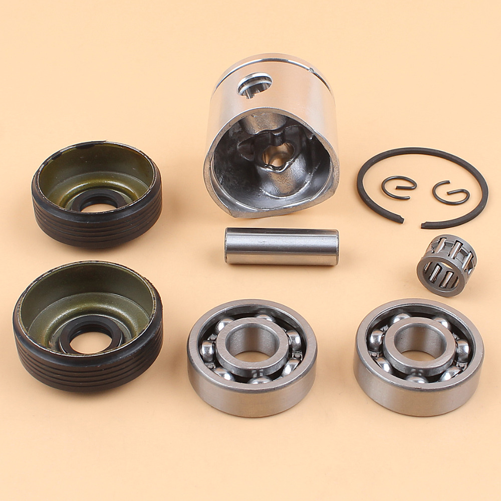 38mm Piston Ring Crank Ball Bearing Oil Seals Kit Fit HUSQVARNA 36 136 136LE 137 137e Chainsaw Engine Parts in Chainsaws from Tools