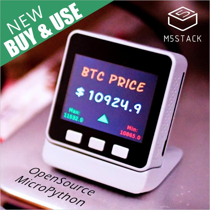 M stack new btc ticker esp for arduino micropython open