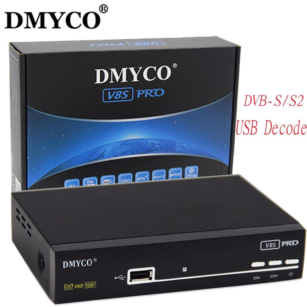 [Genuine] Newest V8S PRO DVB-S2 Satellite Receiver Support PowerVu Biss Key Newcam Youtube Youporn Top TV Box same as V8 super