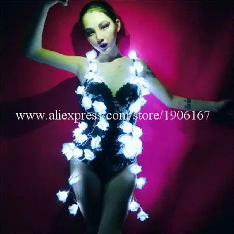 Nouveau Design fille Sexy équipe de danse robe lumineuse femmes lumière LED vêtements TV spectacle scène Performance Costume