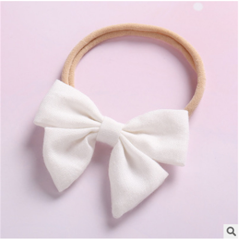 Newborn Baby Girls Bow Headband Pony Bobble Hair Band Accessories