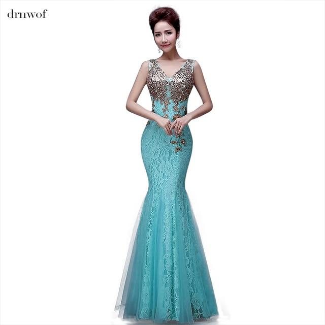 Ben noto Stile di estate elegante mermaid abito da sera lungo 2017 nuovo  GW12