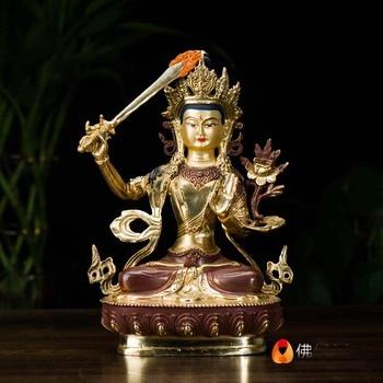 Wholesale Tibetan Buddhist statues -21cm -bless family Safety Health wealth efficacious Protection Manjusri Bodhisattva Buddha