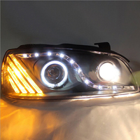 Newest Car Styling Super Bright LED DRL Daytime Running Light Angel Eyes Xenon Headlight Assembly For