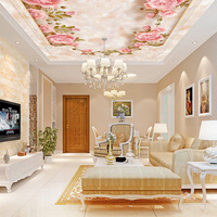 QINGCHUN Custom Print 3D Fabric Textile Wallcoverings For Walls Cloth Ceiling Matt Silk For Living Room