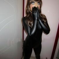 (MW104) Mywayfashion роскошные настроить черный блестящий металлический Зентаи Костюмы фетиш-боди Фетиш-одежда зентай качество колготки