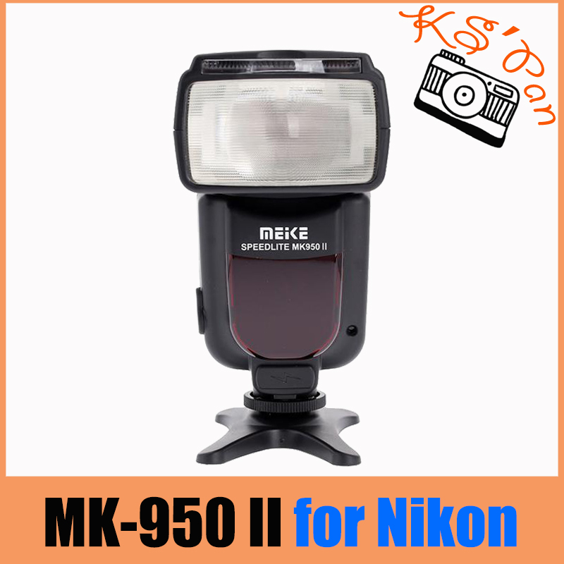 Meike MK-950 Mark II TTL Slave Wireless Flash Speedlite for Nikon D610 D7100 D5100 D3200 D810 D80 As Yongnuo YN-565EX yn e3 rt ttl radio trigger speedlite transmitter as st e3 rt for canon 600ex rt new arrival