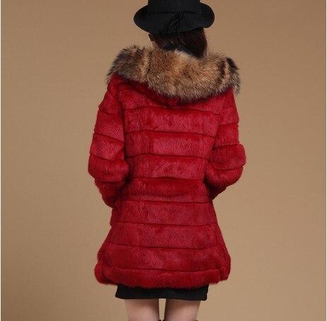 Luxe Picture Lapin as Capuche Naturel Raton De Fourrure Picture As Outeerwear Femmes Dame Manteau Manteaux D'hiver Vf0481 Genuien Chaud 2017 Laveur À C75f1qRR