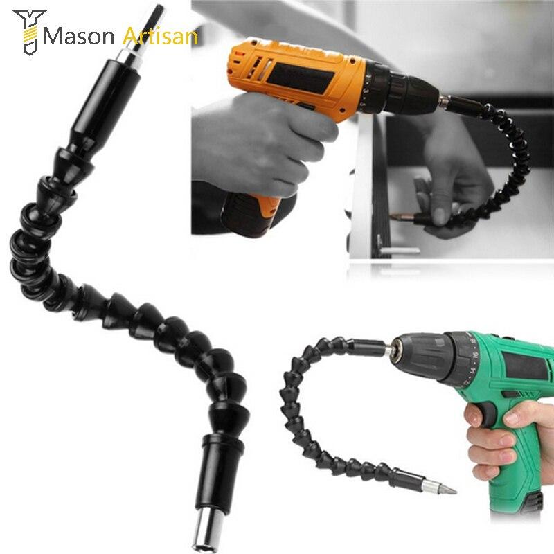1 peça 290mm bits de eixo flexível chave de fenda extensão bit titular magnético rápido conectar flexível broca eixo dremel acessórios