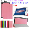 2016 New Tab3 8 inch Tablet TB3-850M Case Flip Cover For Lenovo Tab3 Tab 3 8 inch Tablet case Tab2 A8 A8-50F Slim case