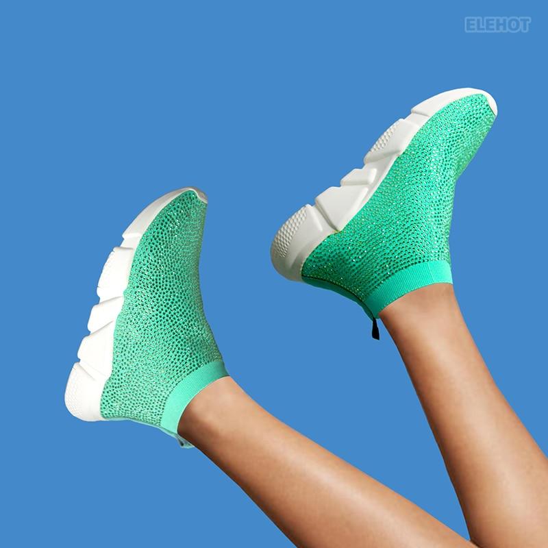 Elehot Cyan Dress Shoes Sneakers