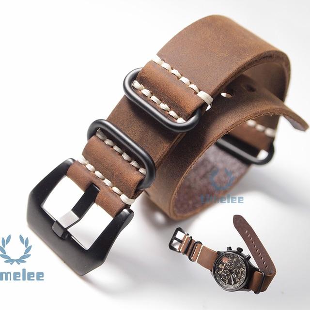 New Sostituzione Watch Band Strap Crazy Horse Pelle Nato 20/Mm22mm/24mm/26mm