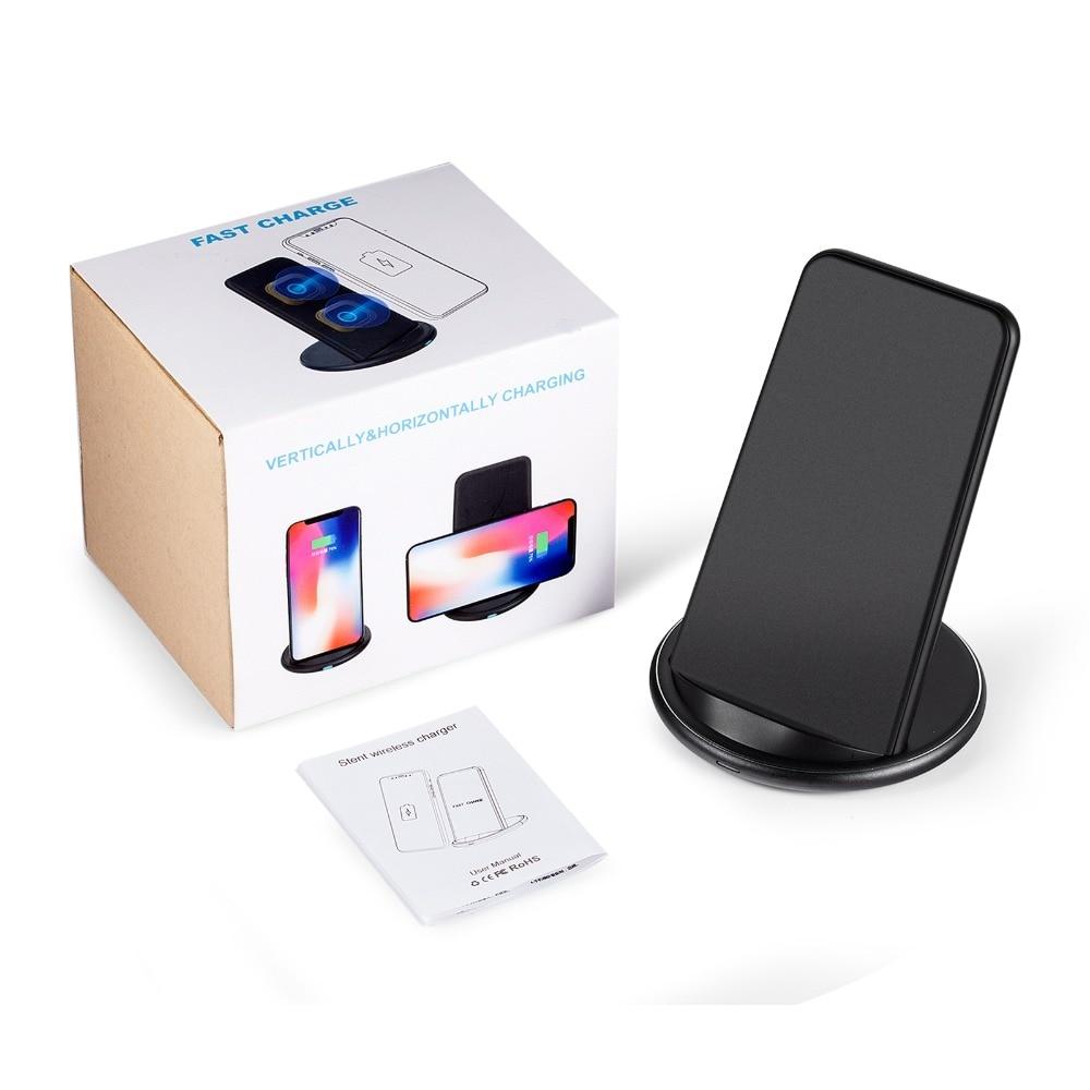 10 W Double Bobine Qi Sans Fil Rapide Chargeur Charging Dock Stand Titulaire pour iPhoneX/8 Samsung Note 8 S8 S9/Pour LG G2 G6/Nokia 930