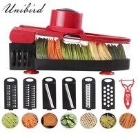 Unibird Multifunctional Vegetable Fruit Cutter Slicer Shredder with Hand Wiper Potato Peeler Carrot Cheese Grater Garlic Grinder