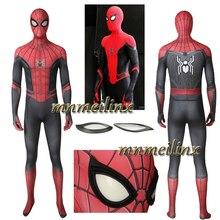 Человек-паук: вдали от дома Питер Человек-паук супергерой спандекс 4D принт Spidey Косплей комбинезон цельный Хэллоуин