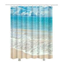 3D пляжные занавески полиэстер новый дизайн douchegordijn Ридо душ en tissu ванная комната шторы водонепроницаемый