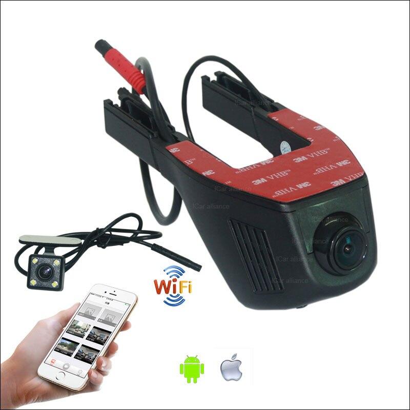 For Skoda Fabia 1 2 Car Dash Cam APP Control Car Wifi DVR G sensor Novatek