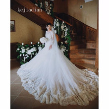 kejiadian Wedding Dress Long Sleeve A-Line Wedding