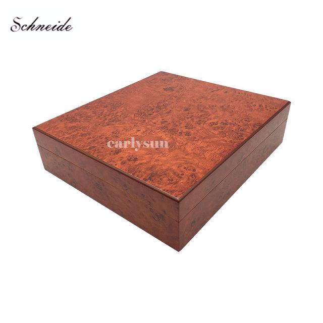SCHNEIDE Brand Humidor Spanish Cedar Wood Travel Cigar Humidor