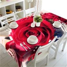 Rectangular Tablecloths Red Rose Tablecloth
