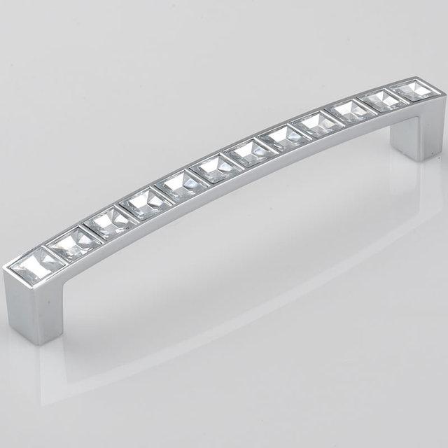 128mm Crystal Cabinet Handles Kitchen Cupboard Pulls Bedroom Furniture Closet Dresser Drawer