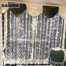 GAISMA 8X3/10x3M LED Curtain Christmas Lights Indoor Wedding Lights Garland Party Decoration For Home New Year Holiday Lighting