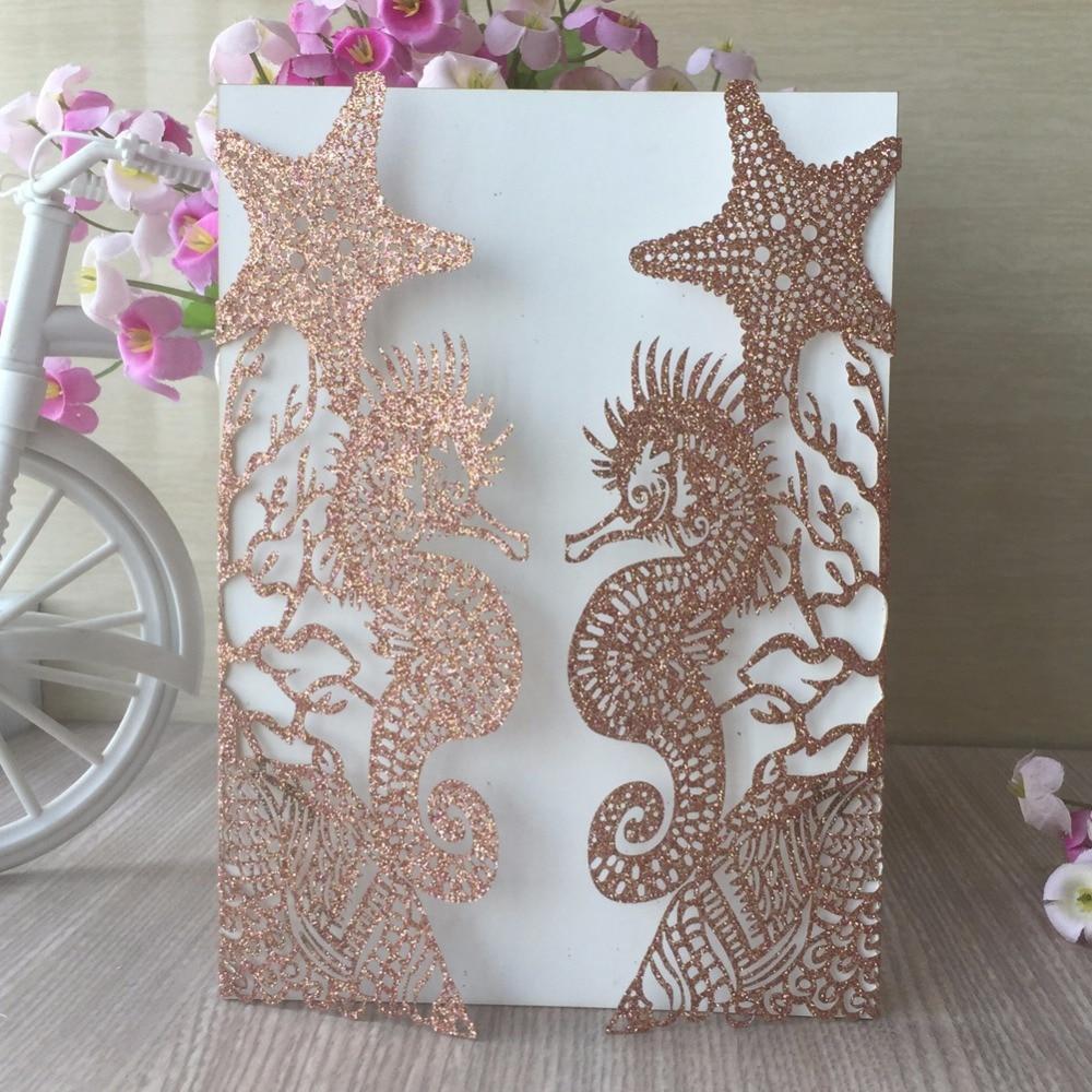 50pcs new glitter gold silver paper beach wedding