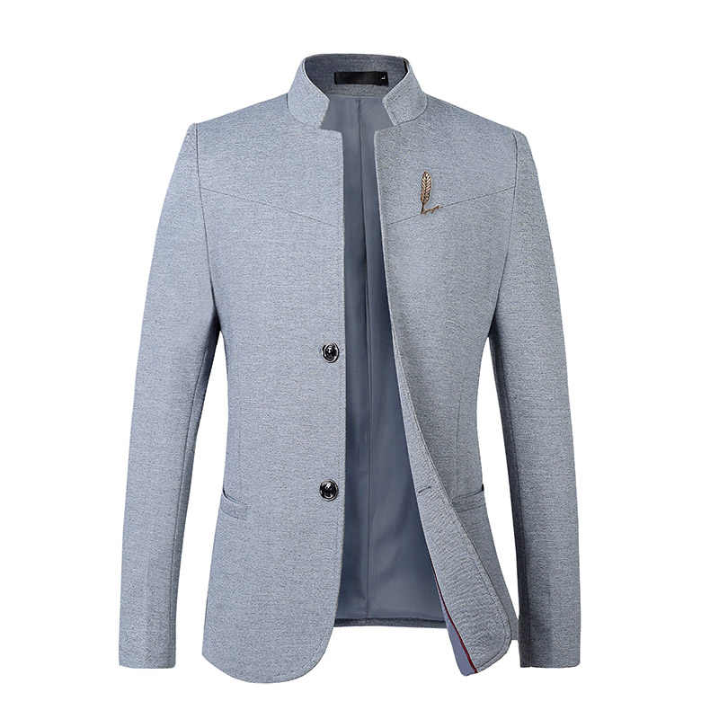 2019 Pure Color Youth Men Suit Jacket ,Black ,Gray, Navy Blue,  Slim Fit Blazers Man Size 5XL Business Casual Male Dress Jackets