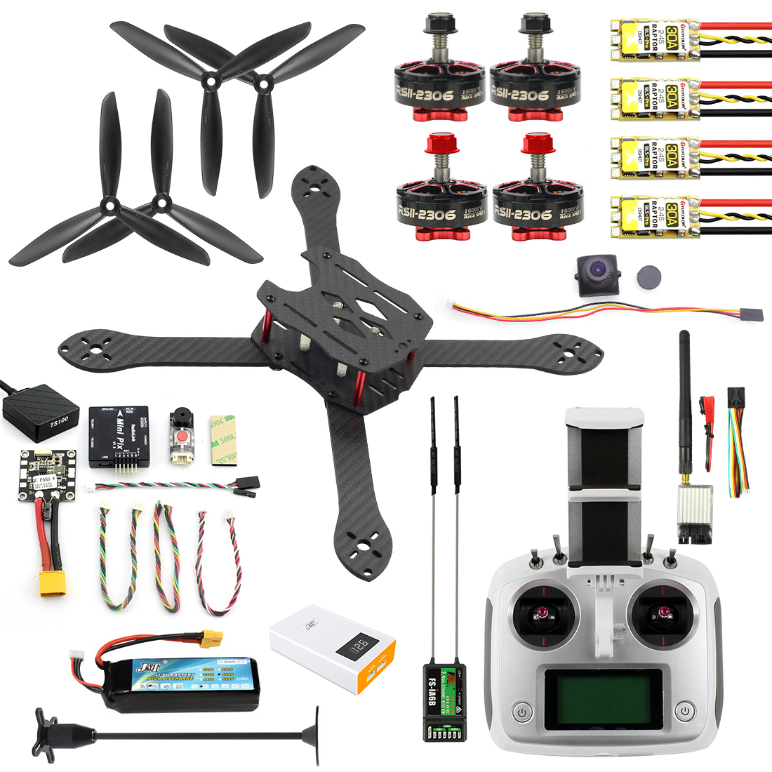 Diy Drone Software Jmt 300mm Diy Combo Kit Radiolink Mini Pix Camera Drone 2 4g 6ch