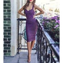 Party Club Bright Silk Dress Women Sleeveless Wrapped Split Hem Package Hip Dresses Vestidos SJ1521M