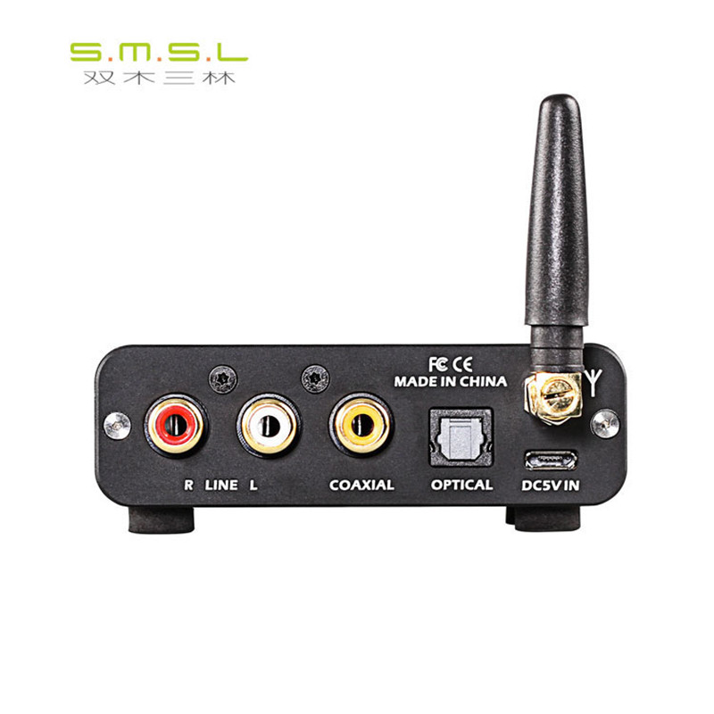 New SMSL B1 NFC Wireless Bluetooth 4.2 Audio Receiver Decoder with Optical Fiber Coaxial RCA Simulation 3.5mm Output Function fpv 1 2ghz 100mw 4ch wireless audio