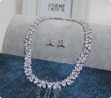 CZ necklace earrings font b jewelry b font font b sets b font font b bridal