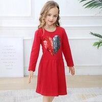 Girls Sequined Dress Children Star Animal Unicorn Vestidos Autumn Kids Long Sleeve Dresses Toddler Cotton Clothes Princess Dress
