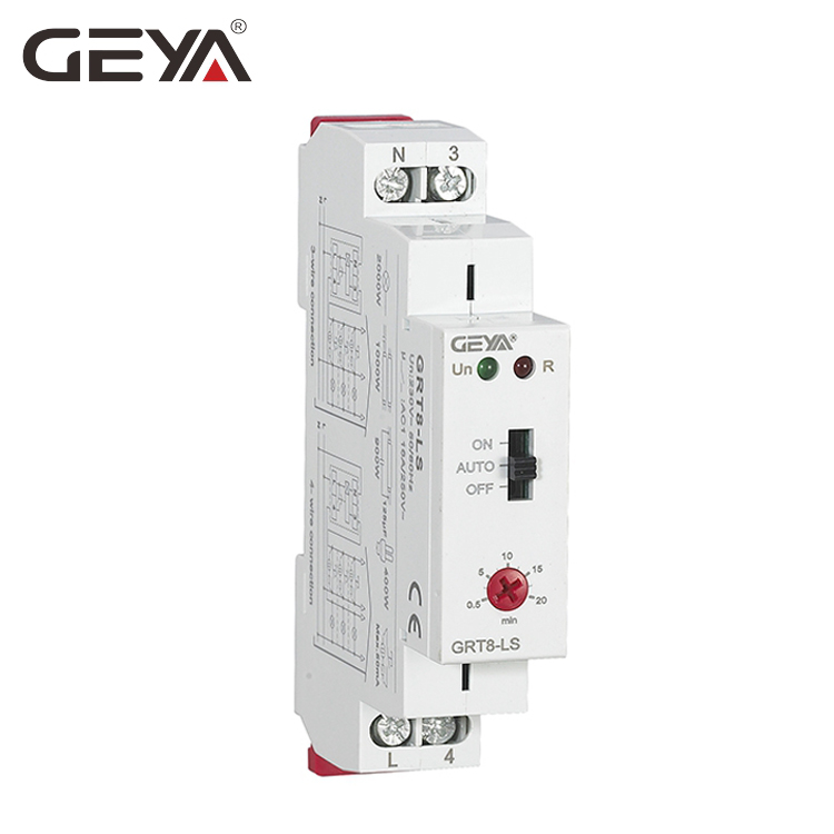 все цены на GEYA GRT8-LS Din rail Staircase Switch Lighting Timer Switch 230VAC 16A 0.5-20mins Delay off Reacting to contact Switching онлайн