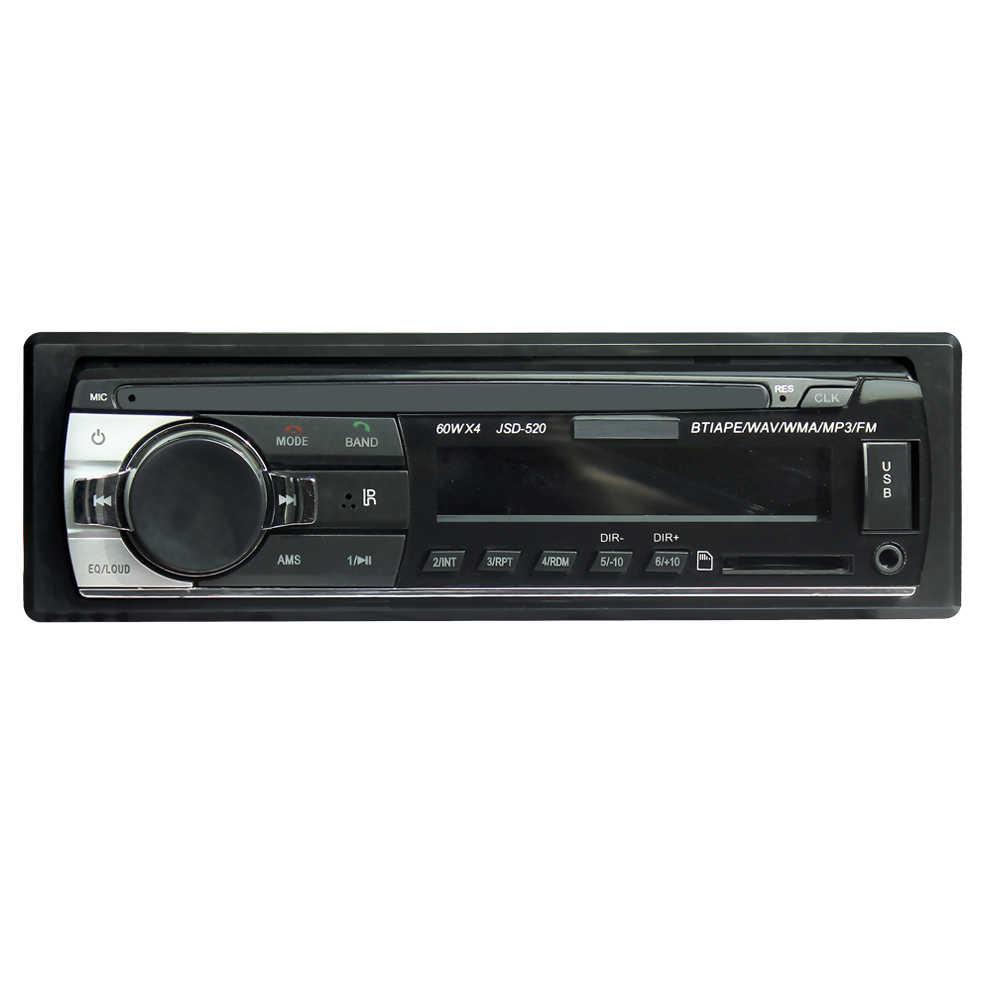 ショート 520 12 ボルト 1Din 車 MP3 プレーヤー車の音楽プレーヤー TF カード USB フラッシュディスクの Aux fm トランスミッタリモコンで