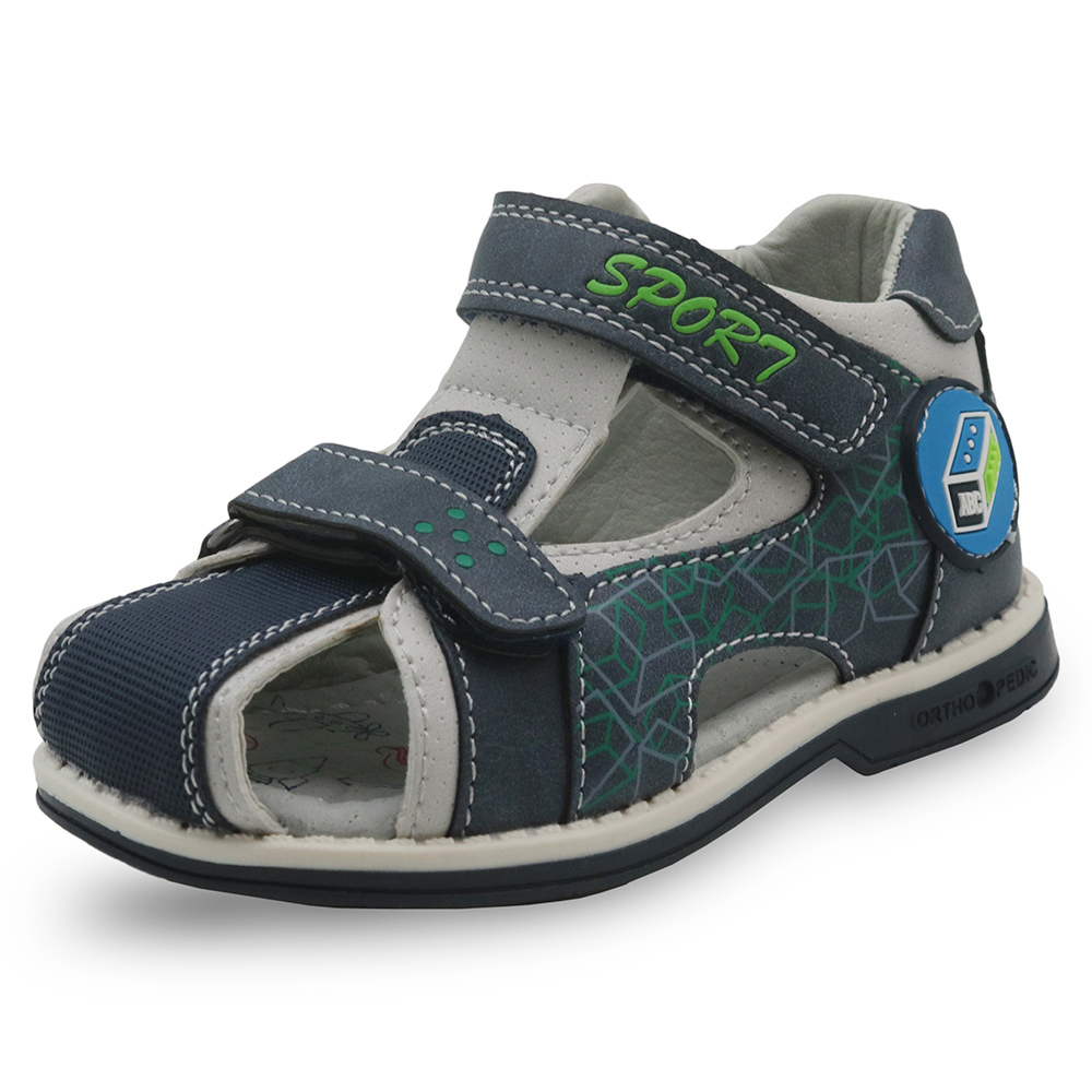 Apakowa Kids Shoes Toddler Boys Orthopedic Closed Toe Flat Sandals Children's Outdoor Beach Walking Shoes For Boys Eur 21-26