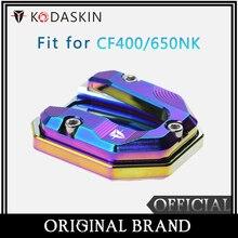KODASKIN Motorcycle CNC Aluminum Side Stand Enlarge for FC400/650NK