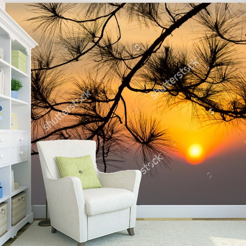Custom natural scenery wallpaper,Sunrise in morning,3D photo mural for the living room bedroom dining room wall wallpaper mary pope osborne magic tree house 3 mummies in the morning full color edition