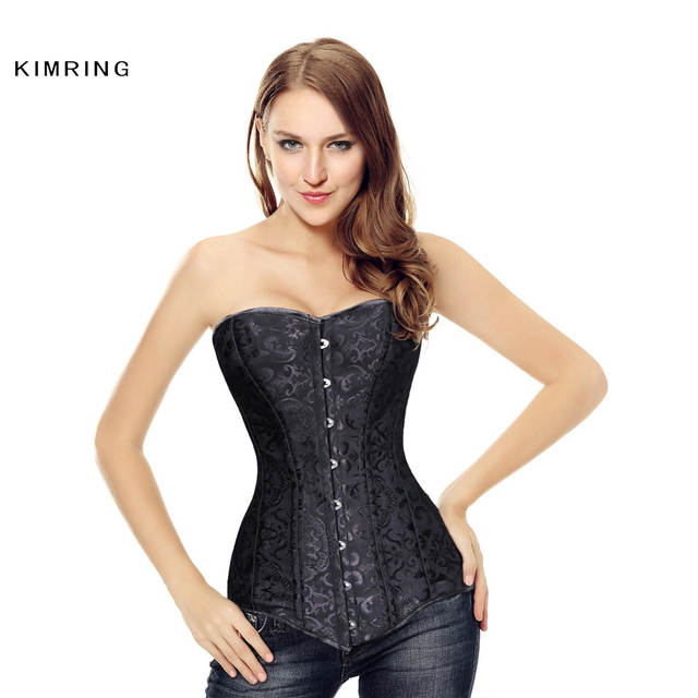 7a53cfdd9e3 placeholder Kimring Plus Size Sexy Long Torso Overbust Corset Double Steel  Boned Corsets Bustiers Waist Trainer Cincher