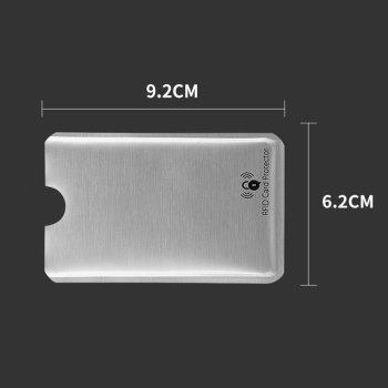 10 PCS Anti Rfid Blocking Reader Card Cover Aluminum Foil Credit Card Holder Protection ID Bank Card Case Safty Pack stationery 1