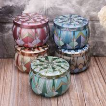 Retro Round Tin Box Jar Tea Candy Jewelry Coin Storage Container Case Candle Sealed Cans Holder Wedding Favor Gift(China)
